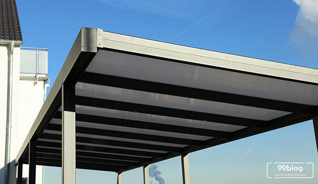 biaya membuat garasi mobil dengan baja ringan tips merancang pemasangan kanopi rumah pahami di sini