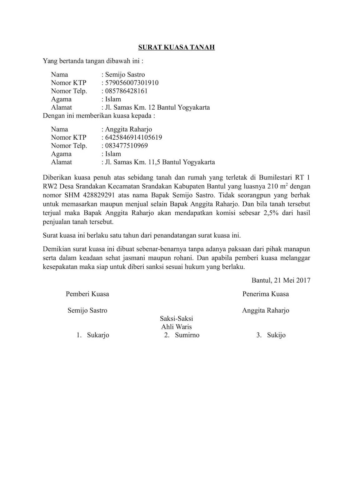 Contoh surat kuasa menjualkan tanah | detikLife