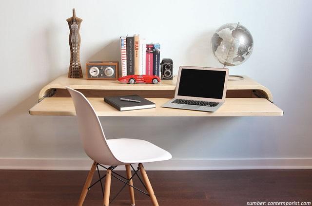 8 Meja Kerja Berdesain Simpel Nan Modern Cocok untuk
