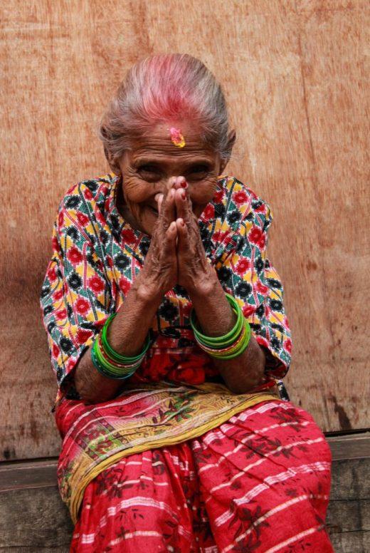 Nepalese lady, prey