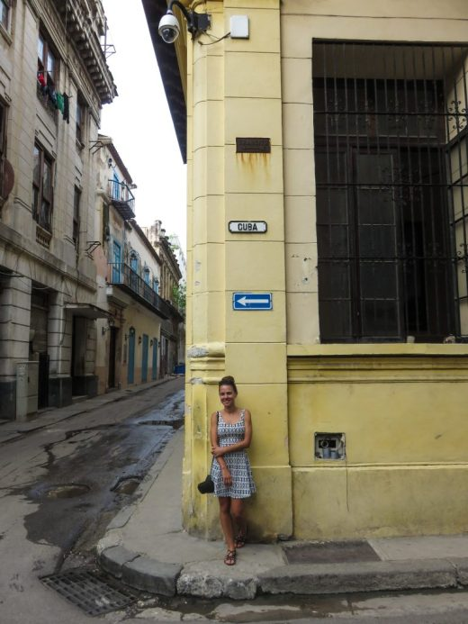 Havana, Cuba. Street sign