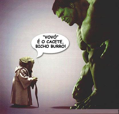 Yoda e Hulk