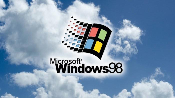 Windows 98 Papel de Parede/Wallpaper retrô