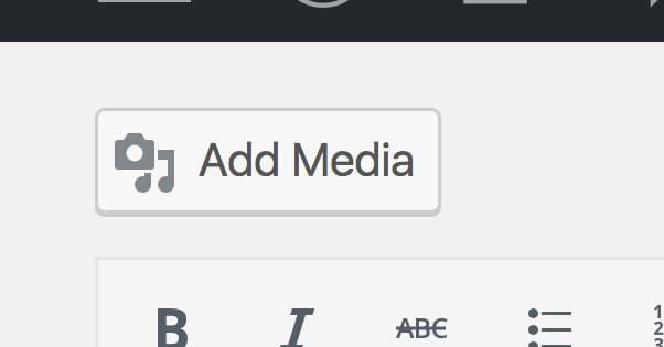 Add Media WordPress Button