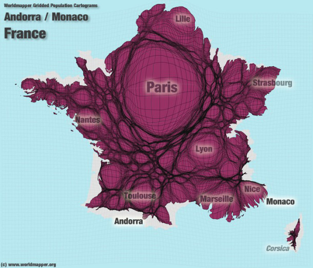 Ingalits territoriales  cartes de la France en