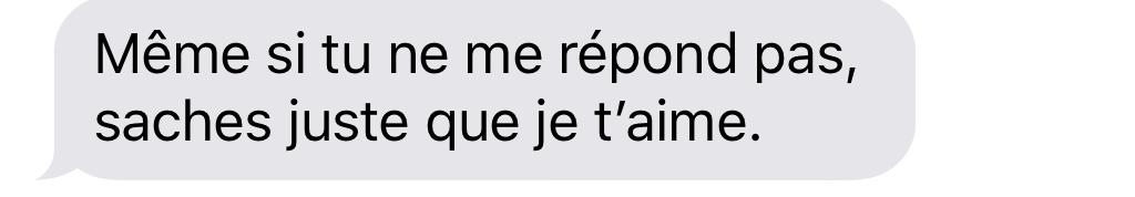 SMS aider un ami
