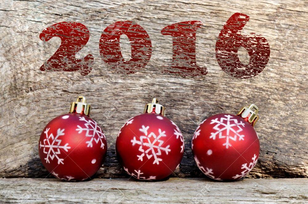 2016 and christmas balls