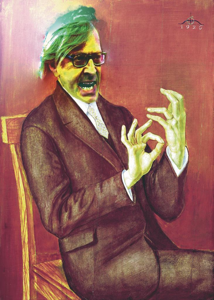 Dante Gurrieri fotomontaggio Vittorio Sgarbi da Ritratto Avvocato Hugo Simons 1925 di O. Dix.jpg