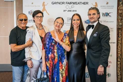 Da sx Tony Renis, Cinzia Saccani, moglie di Tony Renis, Gaynor Fairweather, Mirko Saccani - Ph. Matteo Pizzi-min