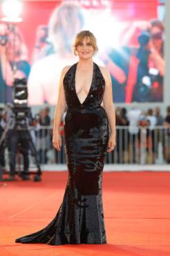 Emmanuelle Seigner on the red carpet for the screening of 'J'Accuse (An Officer And A Spy)' during the 76st Venice Film Festival at the 30 on August Sala Grande, 2019 in Venice, Italy. (Photo by: P. Lehman) (Photo credit should read P. Lehman / Barcroft Media via Getty Images)
