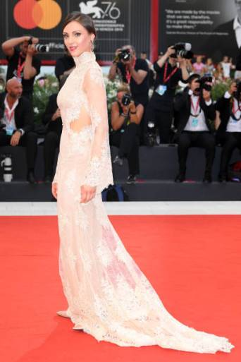 """VENICE, ITALY - SEPTEMBER 02: Martina Arduino walks the red carpet ahead of the """"Martin Eden"""" screening during the 76th Venice Film Festival at Sala Grande on September 02, 2019 in Venice, Italy. (Photo by Daniele Venturelli/WireImage,)"""