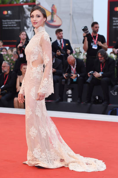 """VENICE, ITALY - SEPTEMBER 02: Principal Dancer of the Teatro alla Scala Martina Arduino walks the red carpet ahead of the """"Martin Eden"""" screening during the 76th Venice Film Festival at Sala Grande on September 02, 2019 in Venice, Italy. (Photo by Stefania D'Alessandro/WireImage,)"""