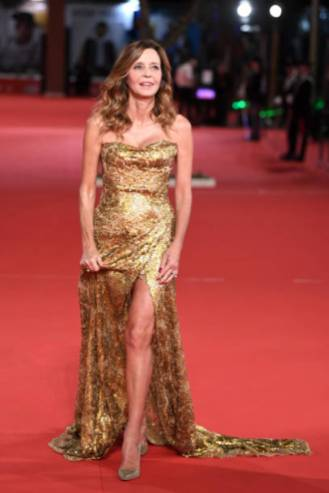 """ROME, ITALY - OCTOBER 18: Eliana Miglio walks the red carpet ahead of the """"Bad Times At The El Royale (Sette Sconosciuti A El Royale)"""" screening during the 13th Rome Film Fest at Auditorium Parco Della Musica on October 18, 2018 in Rome, Italy. (Photo by Daniele Venturelli/WireImage)"""