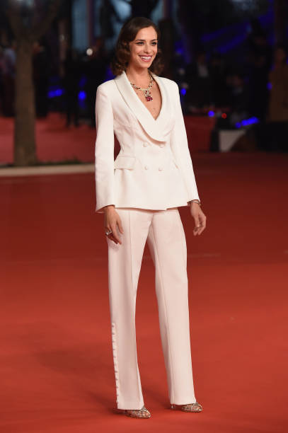 """ROME, ITALY - OCTOBER 19: Marianna Di Martino walks the red carpet ahead of the """"The House With A Clock In Its Walls"""" screening during the 13th Rome Film Fest at Auditorium Parco Della Musica on October 19, 2018 in Rome, Italy. (Photo by Stefania D'Alessandro/WireImage)"""