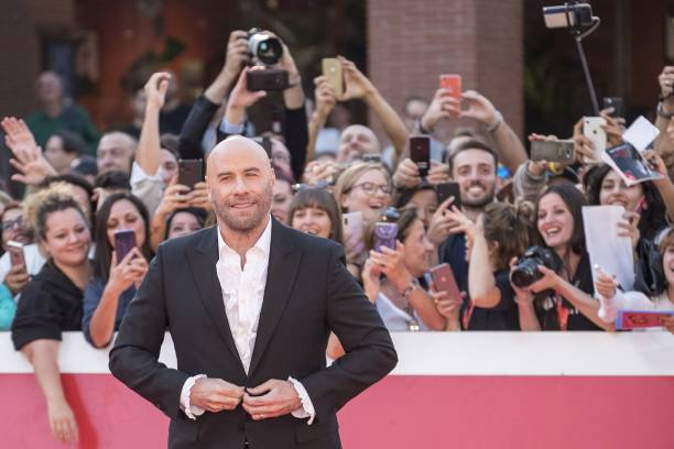 """ROME, ITALY - OCTOBER 22: Actor John Travolta attends the red carpet for """"Close Encounters"""" during the 14th Rome Film Festival in Rome, Italy on October 22, 2019. (Photo by Primo Barol/Anadolu Agency via Getty Images)"""