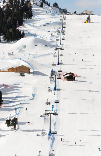 The Dolomites Val Gardena ski area is part of the Dolomiti Superski, a world-famous network of 12 ski areas in the Dolomites