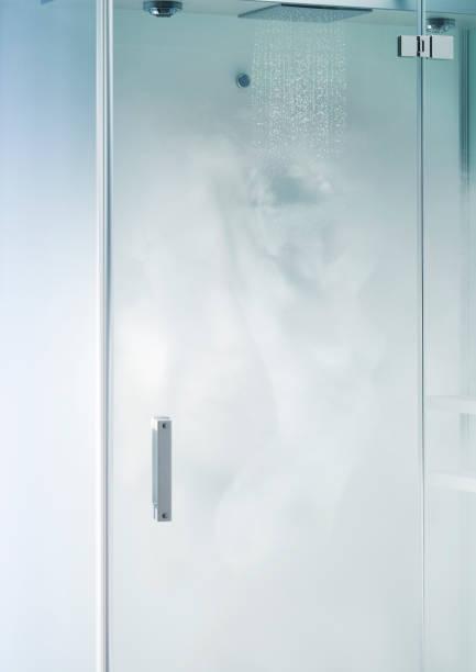 Steam figure of female having a shower.