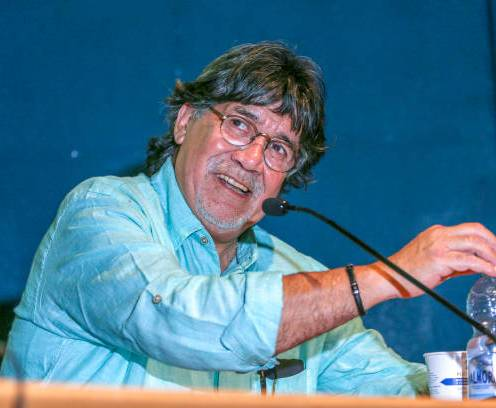 Luis Sepulveda guest during the XXXII Turin International Book Fair at Lingotto Fiere on May 11, 2019 in Turin, Italy. The Best-selling Chilean writer Luis Sepulveda has died at a hospital in northern Spain some six weeks after testing positive for coronavirus, his publishing house said on Thursday. He was 70. (Photo by Massimiliano Ferraro/NurPhoto via Getty Images)