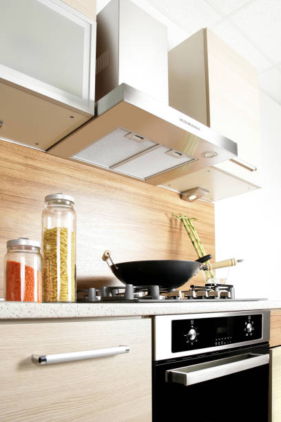 close up shot of clean domestic kitchen
