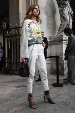 PARIS, FRANCE - SEPTEMBER 30: Constance Joblanski is seen outside the Stella McCartney show during Paris Fashion Week SS20 on September 30, 2019 in Paris, France. (Photo by Daniel Zuchnik/Getty Images)