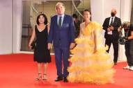 VENICE, ITALY - SEPTEMBER 05: Sun-jung Jung, Oliver Stone and guest walk the red carpet of the Kineo Prize at the 77th Venice Film Festival on September 05, 2020 in Venice, Italy. (Photo by Stephane Cardinale - Corbis/Corbis via Getty Images)