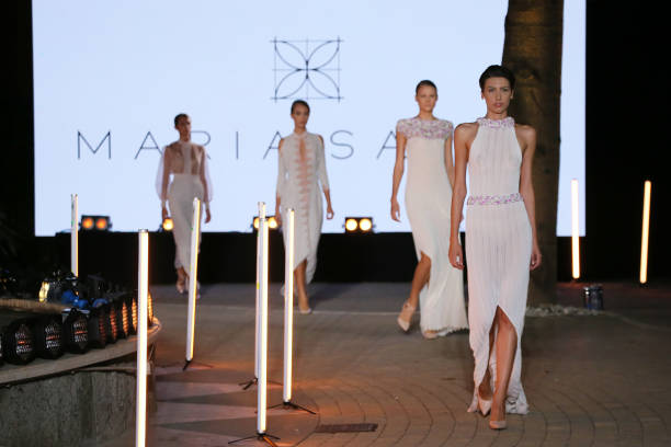 ROME, ITALY - SEPTEMBER 17: Models walk the runway of Maria Sapio Fashion Show S/S during the AltaRoma Fashion Week on September 17, 2020 at Palazzo Brancaccio in Rome, Italy. (Photo by Ernesto S. Ruscio/Getty Images)