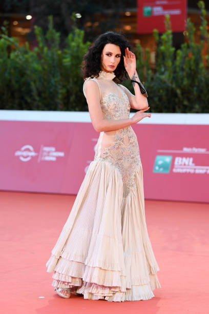 "ROME, ITALY - OCTOBER 19: Irina Forostiana attends the red carpet of the movie ""Fortuna"" during the 15th Rome Film Festival on October 19, 2020 in Rome, Italy. (Photo by Daniele Venturelli/WireImage,)"