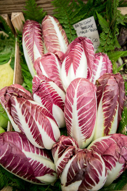 Rome, Italy- Radicchio and other fresh produce for sale in Campo de' Fiori, the largest and oldest outdoor market in Rome. It is located south of Piazza Navona. (Photo by: VW Pics/Universal Images Group via Getty Images)