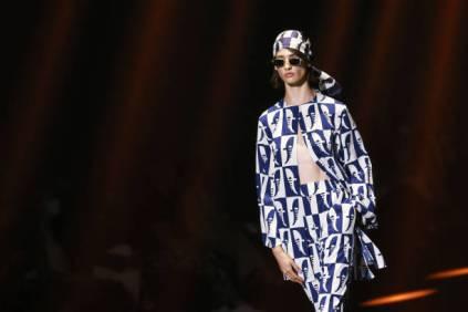 "ROME, ITALY - JULY 09: A model walks the runway at the Edoardo Gallorini ""Estasi Mediterranea"" fashion show during Altaroma 2021 at Cinecitta Studios on July 09, 2021 in Rome, Italy. (Photo by Elisabetta Villa/Getty Images)"