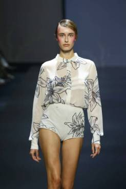 """ROME, ITALY - JULY 10: A model walks the runway at the Caterina Moro """"Pancratium Maritimum"""" fashion show during Altaroma 2021 at Cinecitta Studios on July 10, 2021 in Rome, Italy. (Photo by Ernesto S. Ruscio/Getty Images)"""