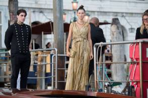 VENICE, ITALY - AUGUST 29: Bianca Balti is seen during the Dolce&Gabbana Alta Moda show on August 29, 2021 in Venice, Italy. (Photo by Jacopo Raule/Getty Images)