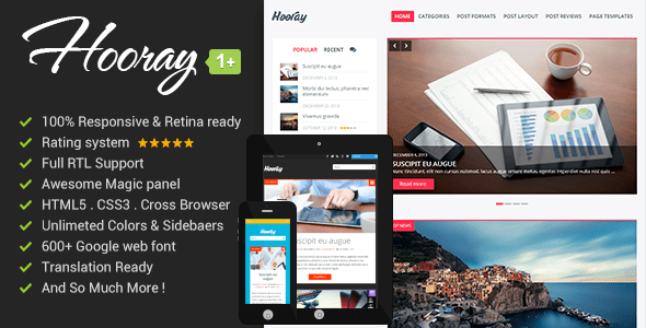 Hooray WP blog theme