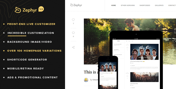 Zephyr WP Theme