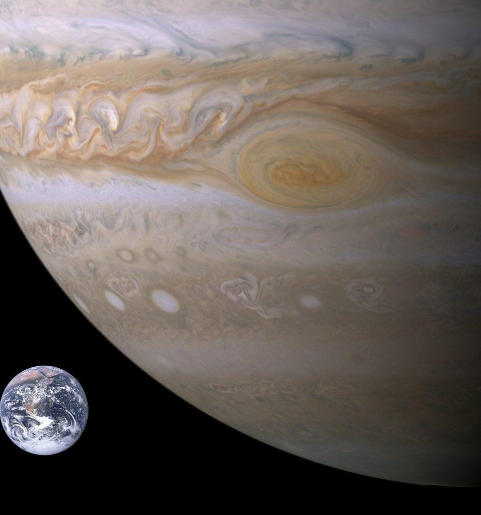 Jupiter may be approximately 12 times the diameter of Earth, but the Great Red Spot has shrunk from a maximum of 40,000 km to merely 24,000 km across, as of 2017.