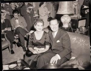 Barbara Hutton Seated with Baron Von Cramm