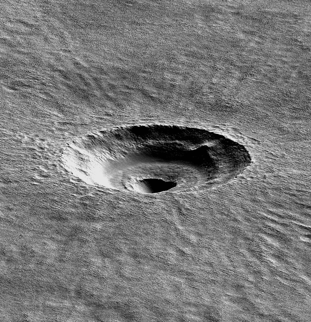 Terraced craters Windows into Mars icy past  GeoSpace