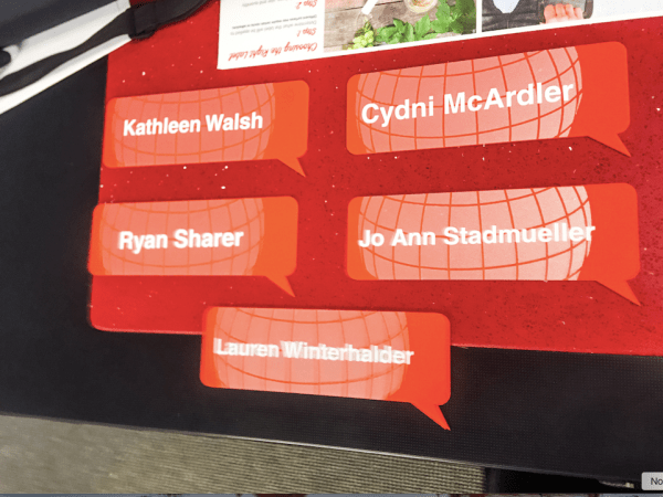 Worldwide_Speakers_Group_-_Orange_Routed_Ayrclic_Name_Plates_jpg_and_Shannon_Mullins___Wright_Acrylic_Standoff_Sign_jpg