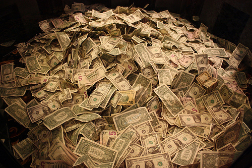Money. How do we convince people that math should get some? Image: Nick Eres, via flickr.