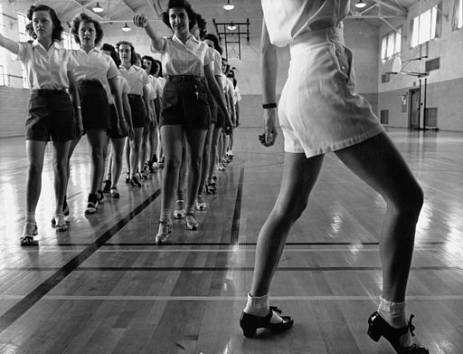 A tap dancing class, perhaps about to embark on a lesson about modular arithmetic.