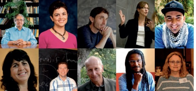 Ten of the Latina, Latino, and Hispanic mathematicians featured for Hispanic Heritage Month on the Lathisms.org website. For full image credits, click here.