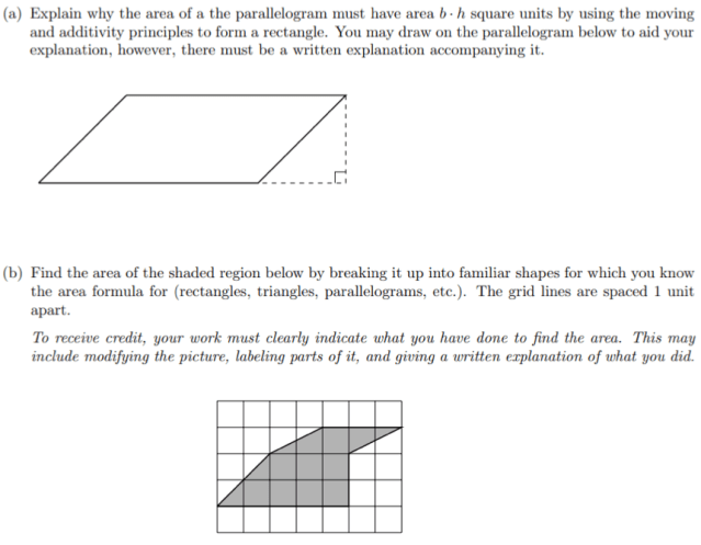 A second area problem assigned to student