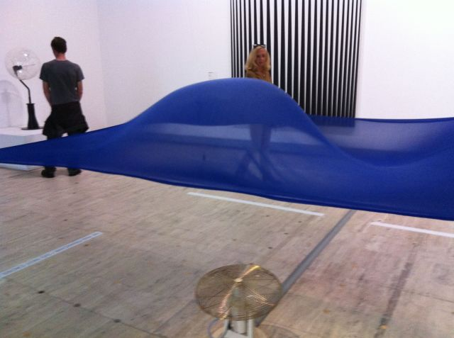 Moving sculpture by Hans Haacke.