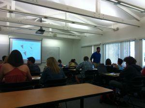 Michael Gagliardo teaching an IBL geometry class.