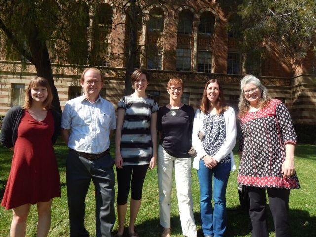 My group: me, Joachim Rosenthal (ETH), Jessalyn Bolkema (University of Nebraska, Lincoln), Heide Gluesing-Luerssen (University of Kentucky), Christine Kelley (University of Nebraska, Lincoln), Kristin Lauter (Microsoft Research).