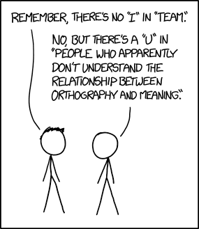 Comic from xkcd.com, by Randall Munroe, of course.