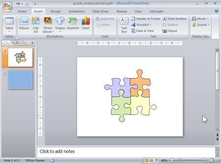 build a puzzle animation