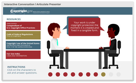 Free PowerPoint template interaction example