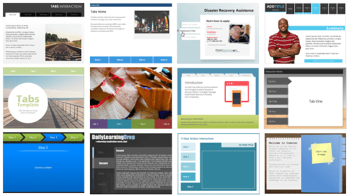 free e-learning Storyline templates tabs interactions