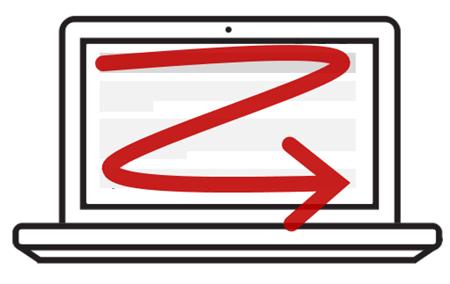 z pattern when scanning screen