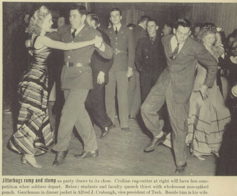 Photograph of students in 1941 dancing a jitterbug
